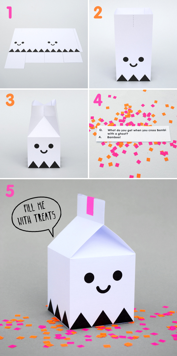 ghost treat box halloween
