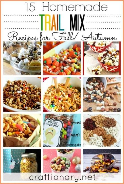 homemade trail mix recipes