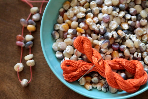 thanksgiving corn necklace