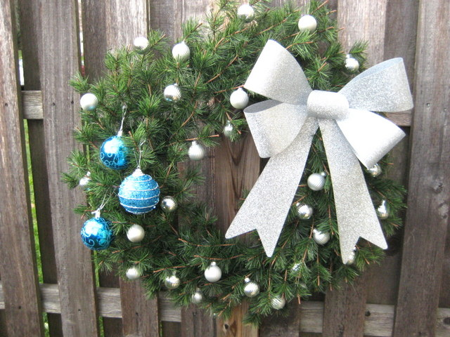 Holiday winter wreath