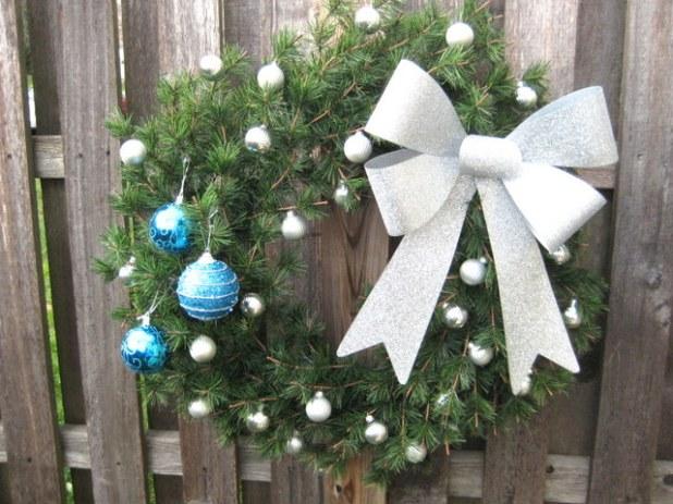 Holiday winter wreath