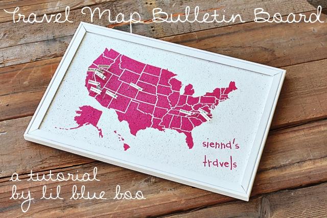 easy travel map bulletin board