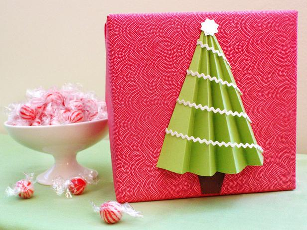 3D christmas tree wrap