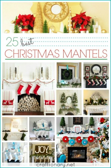 best Christmas mantels