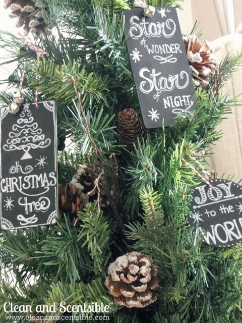 chalkboard ornaments