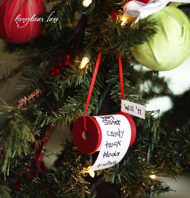 christmas list ornament