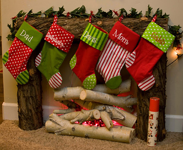 faux Christmas mantel