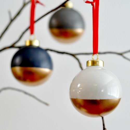 paint dipped ornaments