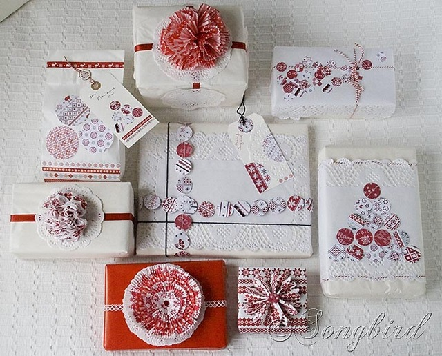 red white gift wrapping