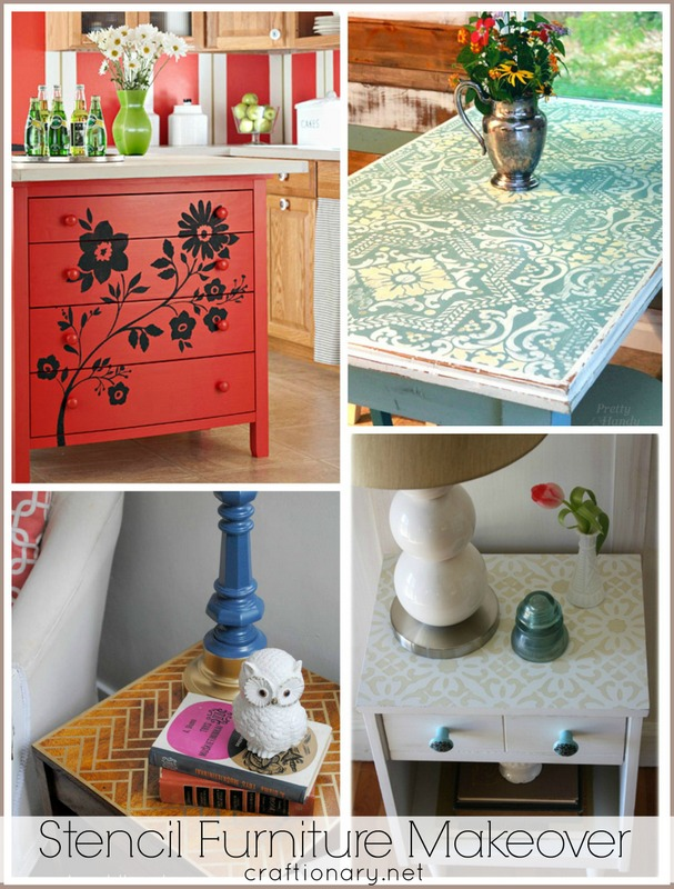 DIY stencil furniture makeovers