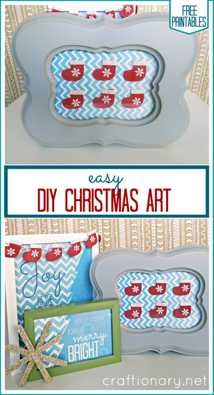 easy DIY Christmas art