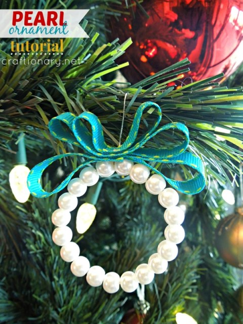 DIY pearl ornaments Christmas tutorial