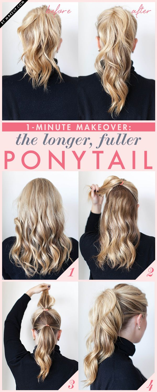 longer fuller ponytail tutorial