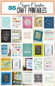 best craft printables craft room printables