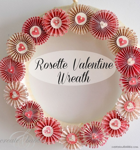 rosettes valentine wreath