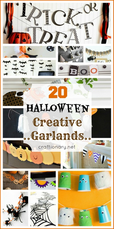 DIY halloween garlands buntings banners pennants