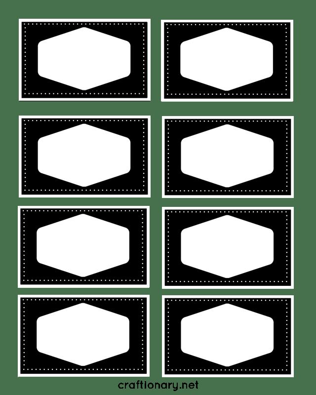book label printables black