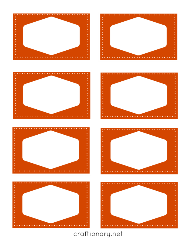 book label printables orange