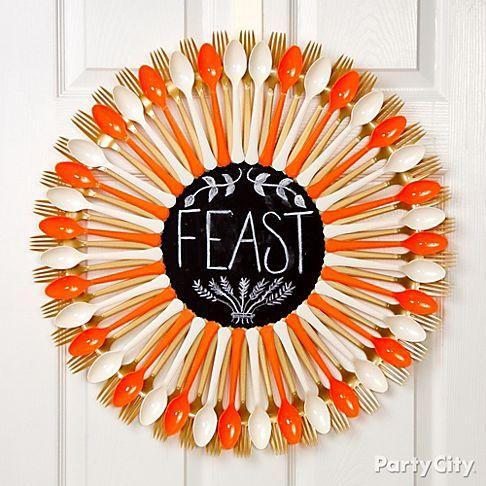 chalkboard spoons wreath
