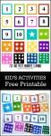 Free printable numbers matching