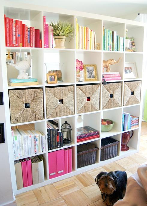 DIY playroom books organization