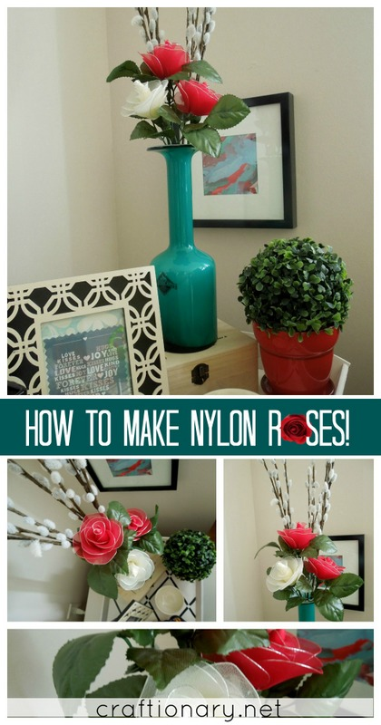Nylon flower rose tutorial