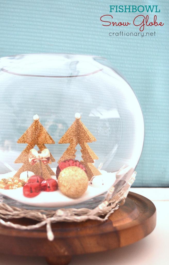 DIY fishbowl snow globe tutorial at craftionary.net