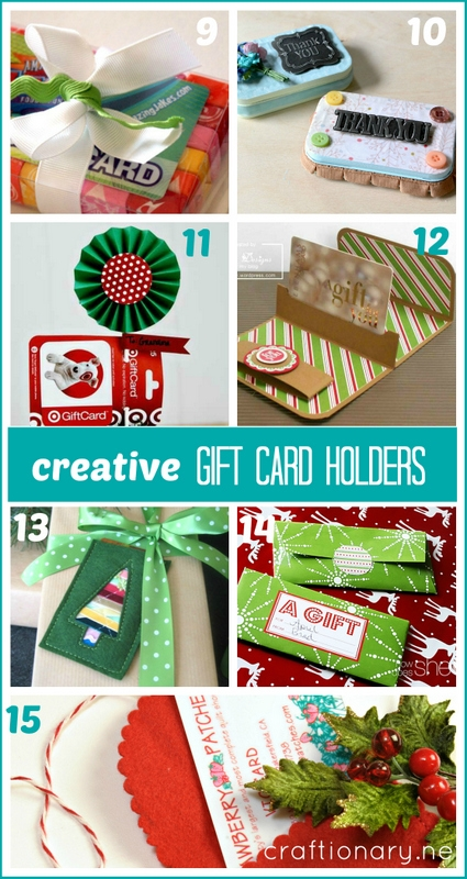 DIY gift card holders at craftionary.net