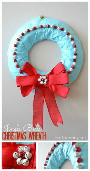 Jingle bells wreath at craftionary.net #Christmas #wreath