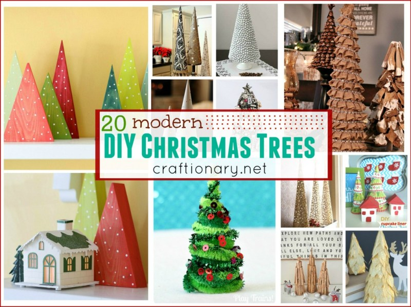 Modern Christmas trees - craftionary.net