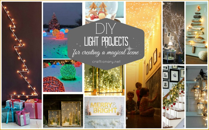 DIY light projects for creating a magical scene