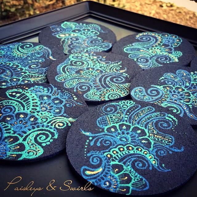 Creative henna coasters