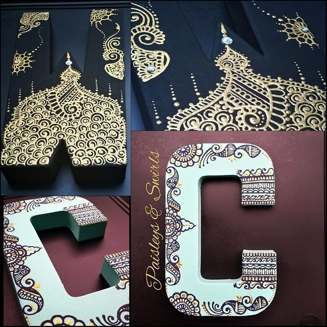 Creative henna art letters