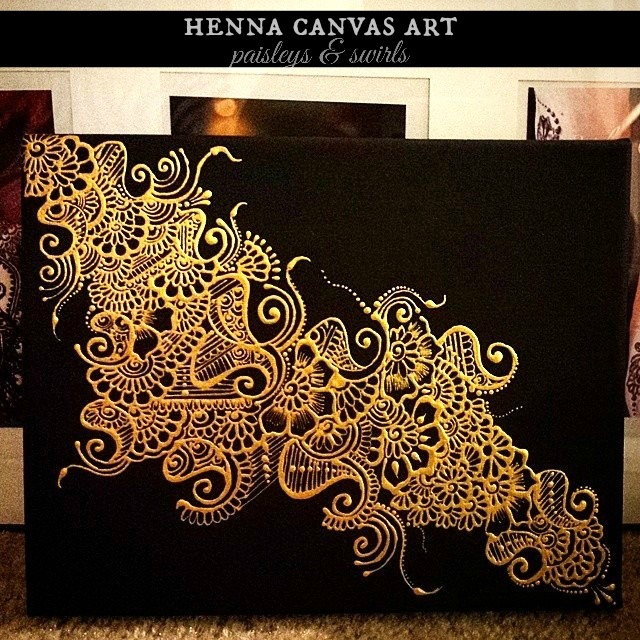 Henna art canvas