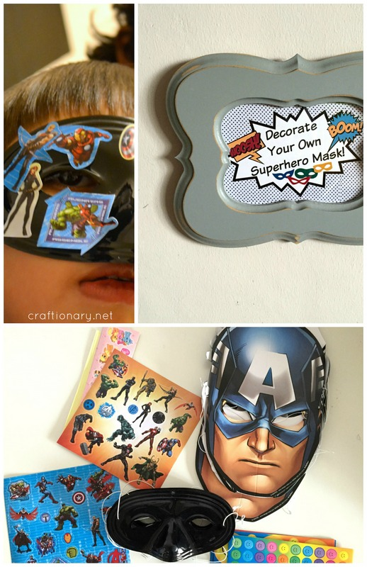 decorate superhero mask