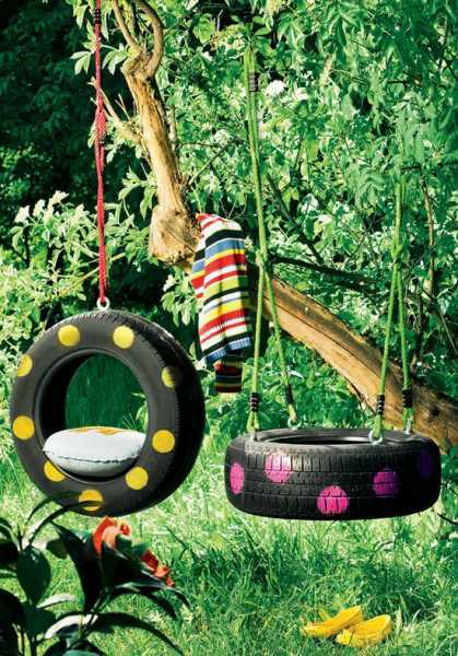 DIY rope old tire swing
