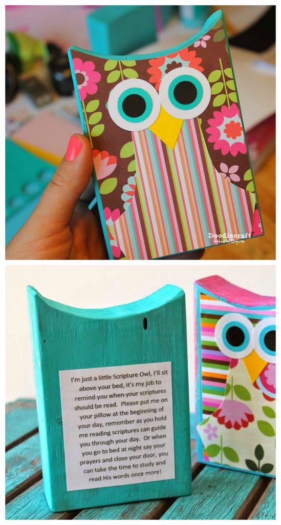 DIY scripture reminder owls