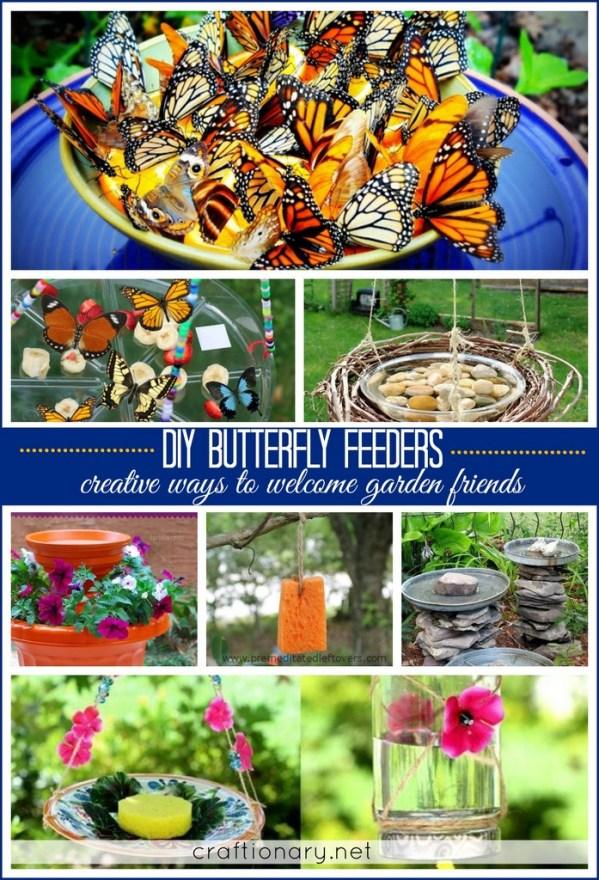 homemade butterfly feeder