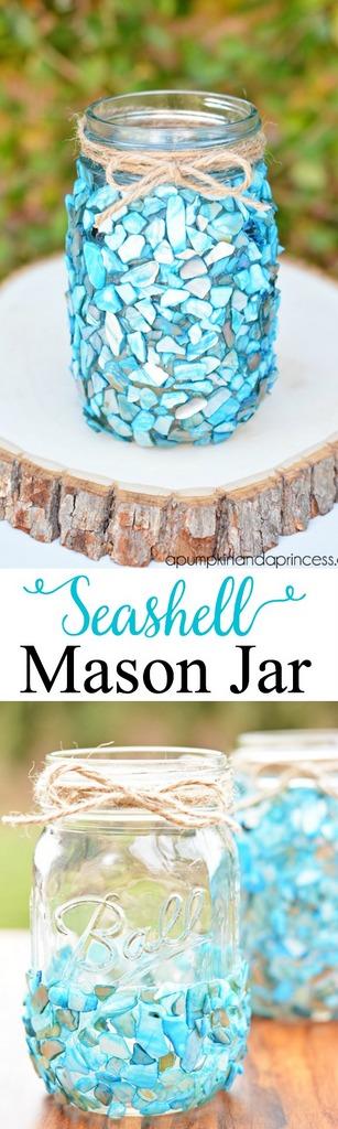 Seashell-mason-jar-craft