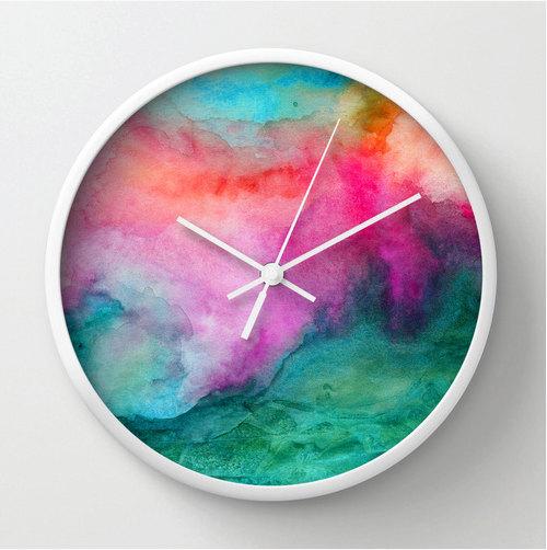 watercolor-clock