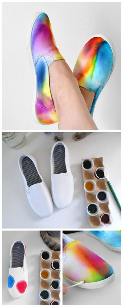 DIY-rainbow-shoes