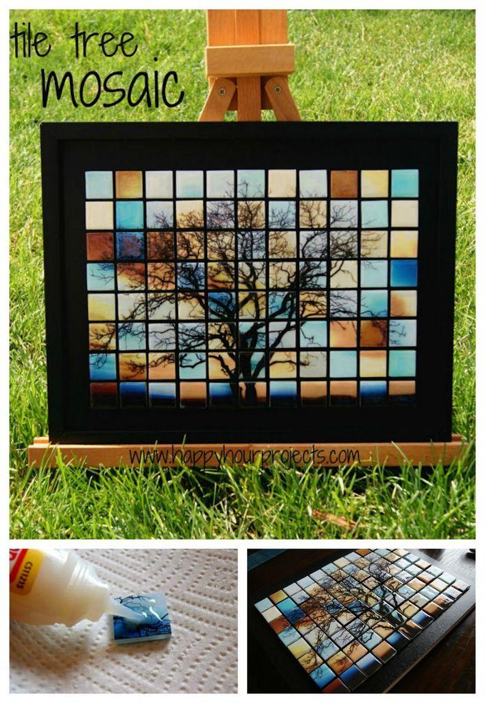 Tile-tree-mosaic