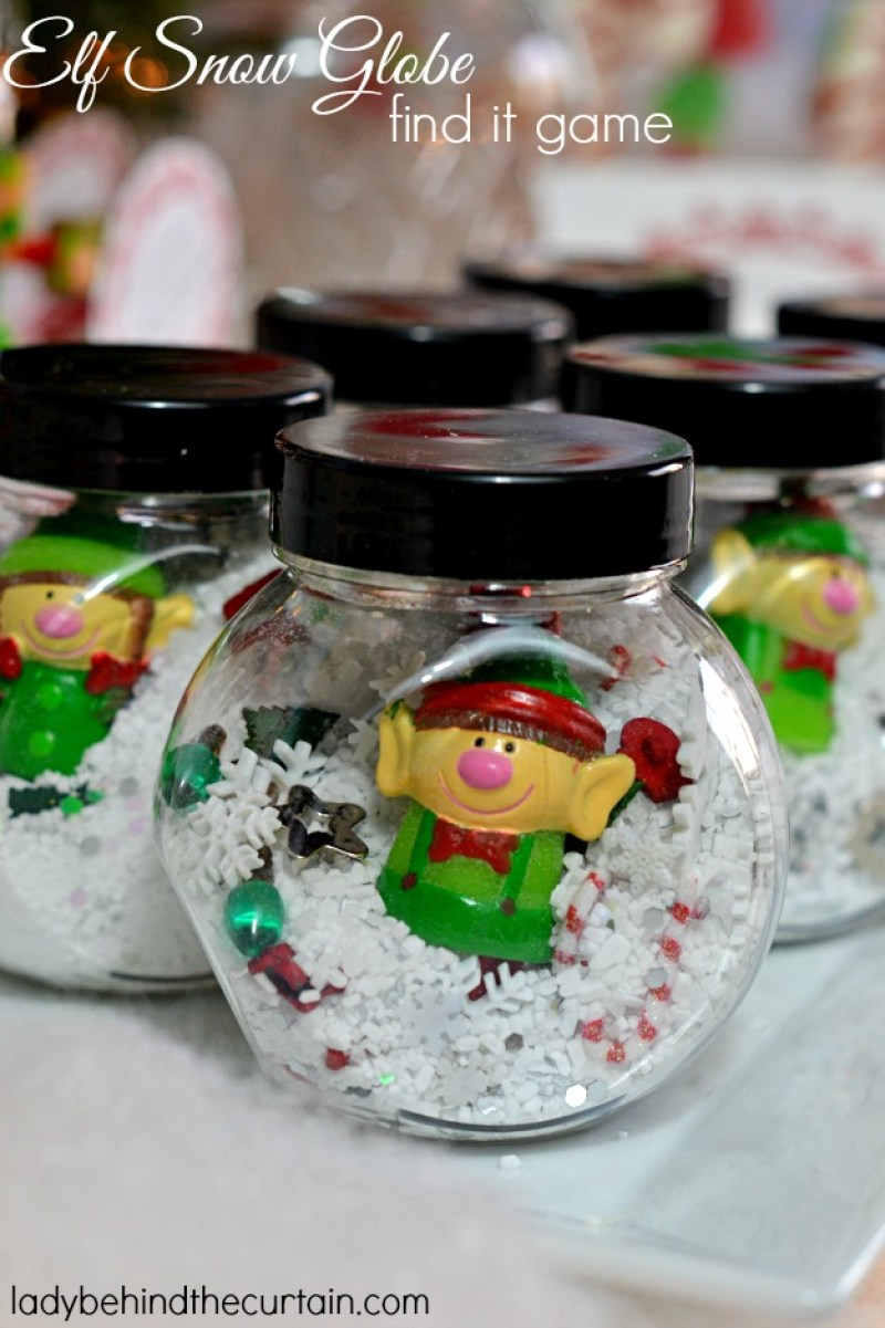 Elf-in-a-snow-globe