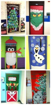 Holiday Door Decorating Ideas For Work | Psoriasisguru.com