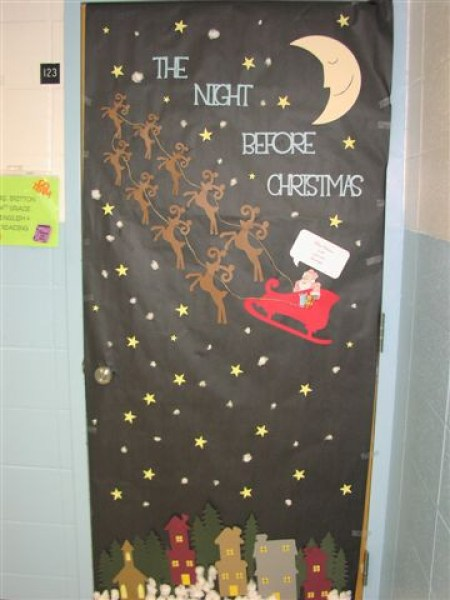 christmas night door