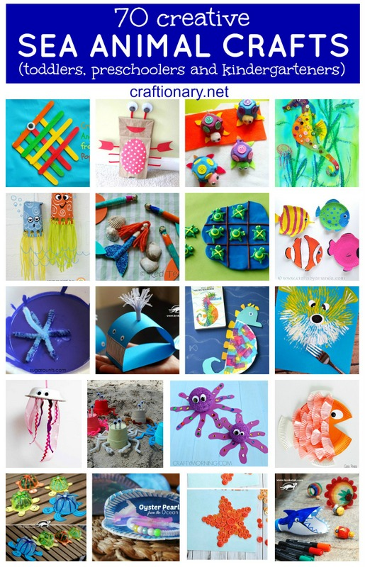 Creative sea animal crafts for kids at craftionary.net