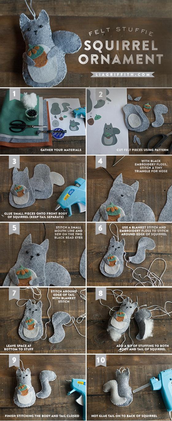 felt-squirrel-ornaments