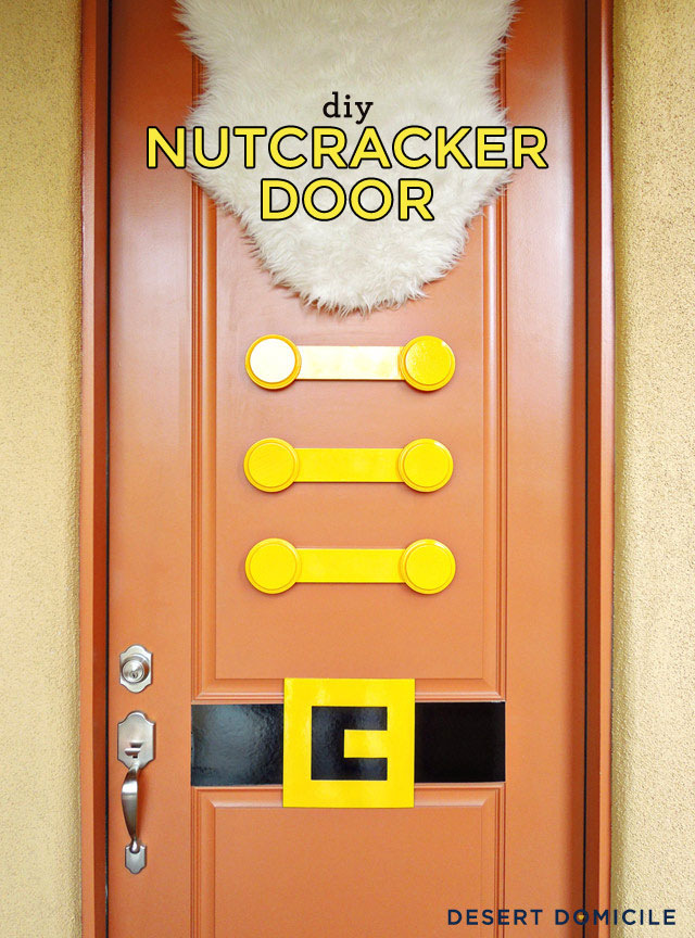 nut cracker christmas door