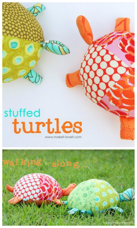 stuffed turtle craft for kids