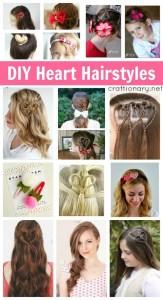 DIY heart hairstyles